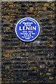 TQ3082 : Lenin Blue Plaque at 36 Tavistock Place by PAUL FARMER