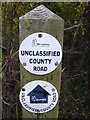 SP3864 : Unclassified Road Marker by Nigel Mykura
