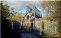 J3070 : Railway footbridge, Balmoral, Belfast by Albert Bridge
