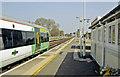 SU9504 : Barnham station, Down platform (No. 2) with train by Ben Brooksbank