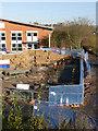 SK5538 : Progress at Lenton railway bridge  by Alan Murray-Rust