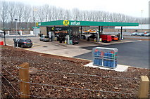 ST2995 : Corner view of the new Morrisons Refuel, Cwmbran by Jaggery