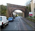 SO5710 : Long disused railway bridge, Coleford by Jaggery