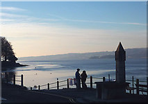 SD4578 : Winter afternoon, Arnside Promenade by Karl and Ali