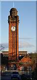 NS6168 : Stobhill Hospital tower by Thomas Nugent