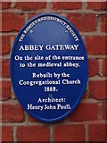 SU3521 : Romsey Abbey Gateway Plaque by Michael FORD