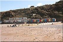 TG2142 : Cromer Beach Huts by John Salmon