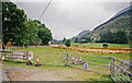 SH5456 : Site of Welsh Highland Railway station to be built at Betws Garmon, 1999 by Ben Brooksbank