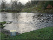 SE0754 : The stepping stones upstream of the footbridge at Bolton Abbey by Humphrey Bolton
