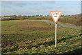 TF3076 : Give way at Bluestone Heath Road by Stephen McKay