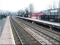 SE0125 : Mytholmroyd railway station, Yorkshire by Nigel Thompson