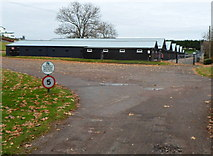 ST5294 : Stables in the SE corner of Chepstow racecourse by Jaggery