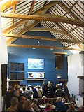 SX4268 : The interior of The Barn restaurant at Cotehele by Rod Allday