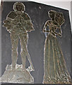 SK9389 : Brass to John Whichcote & wife, St Chad's church, Harpswell by J.Hannan-Briggs