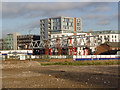 SK5739 : The bridge takes shape (1) by Alan Murray-Rust