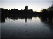 SO8454 : A winter solstice dawn in Worcester by Philip Halling