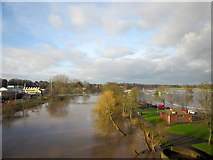 SO8455 : Worcester Racecourse Flooded Again December 2012 by Roy Hughes