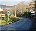 SS8582 : Steep descent down Bedford Road, Cefn Cribwr by Jaggery
