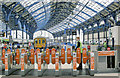 TQ3104 : Brighton station, automatic barriers at Platforms 6-8 by Ben Brooksbank