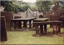 SK3463 : All Saints, Ashover - Churchyard by John Salmon