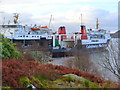 "NR8162 : CalMac ""Lord of the Isles"" and ""Hebridean Isles"" at Kennacraig by sylvia duckworth"
