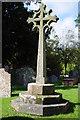 SO4439 : Preaching cross, Eaton Bishop by Philip Halling