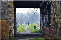 NT2540 : Former railway bridge by the Tweed, Peebles by Jim Barton