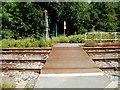SN6322 : Across Llandeilo railway station level crossing by Jaggery