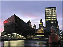 SJ3490 : Liverpool twilight by Bobby Clegg
