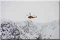 NH9903 : Helicopter above Coire an t-Sneachda by Dorothy Carse