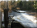 NT3371 : Weir on the River Esk at Musselburgh by M J Richardson