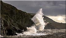 NX3639 : Winter storm, Back Bay by David Baird