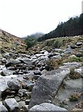 J3629 : The boulder strewn bed of the Glen River by Eric Jones
