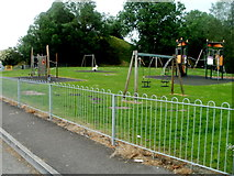 SN7634 : Children's play area in Castle Recreation Ground, Llandovery by Jaggery