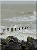 TQ1602 : Rough sea at  Worthing, West Sussex by Roger  Kidd