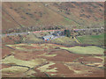 NY3310 : Dunmail Raise Water Works seen from Cotra Breast by Graham Robson