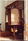 TL4731 : St Mary & St Clement, Clavering - Pulpit by John Salmon