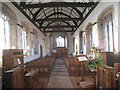 SK7374 : The nave, St. Nicholas, Askham looking west by Jonathan Thacker