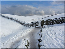 SK1482 : Limestone Way at the top of Cave Dale by Colin Park