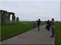SU1242 : Tourists at Stonehenge by Nigel Mykura