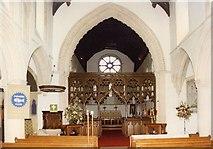 TL7835 : St Nicholas, Castle Hedingham - East end by John Salmon