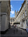 ST7564 : View to Bath Abbey from Church Street by Colin Park