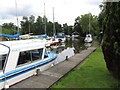 TG3921 : Boats moored at western end of Catfield Dyke near Hickling by Colin Park
