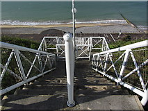 TG2142 : Stairway down to beach from Putting Greens, Cromer by Colin Park