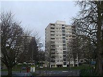 TQ2173 : Road junction on Danebury Avenue by David Anstiss