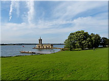 SK9306 : Normanton Church and Rutland Belle jetty by Mat Fascione
