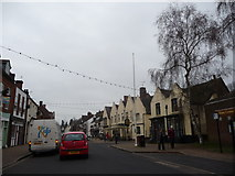 SO8483 : Part of the High Street, Kinver by Jeremy Bolwell