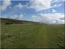 SZ6285 : Coast path leading up towards Culver Cliff, northeast of Sandown, IOW by Colin Park
