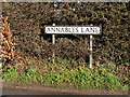 TL0915 : Annables Lane sign by Adrian Cable