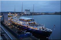 NT2677 : HMY Britannia, Leith docks by Mike Pennington